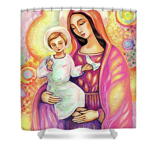 Blessing From Light Shower Curtain