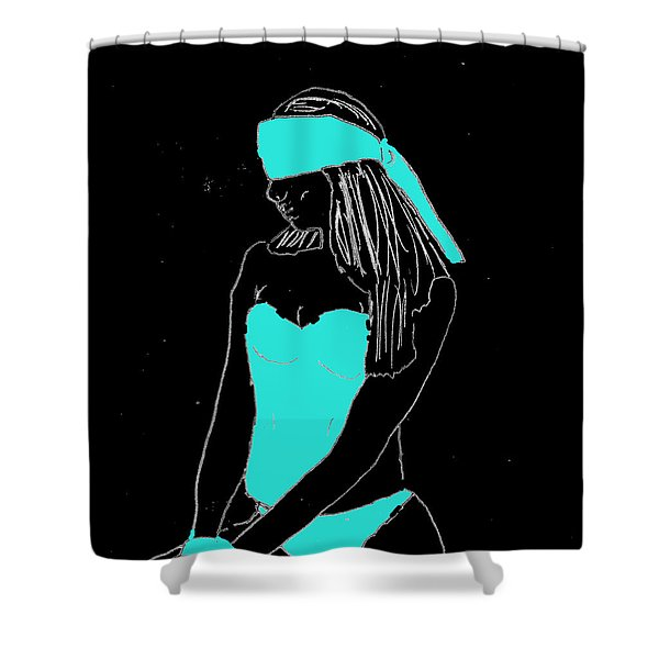 Blindfolded Shower Curtain