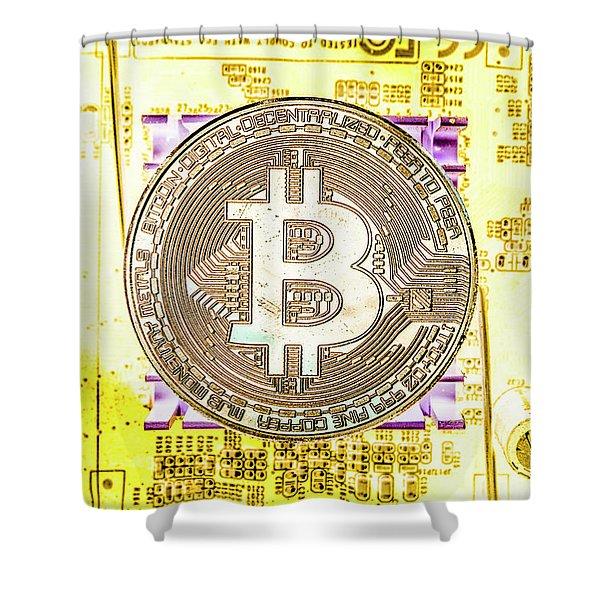 Blockchain Processing Shower Curtain