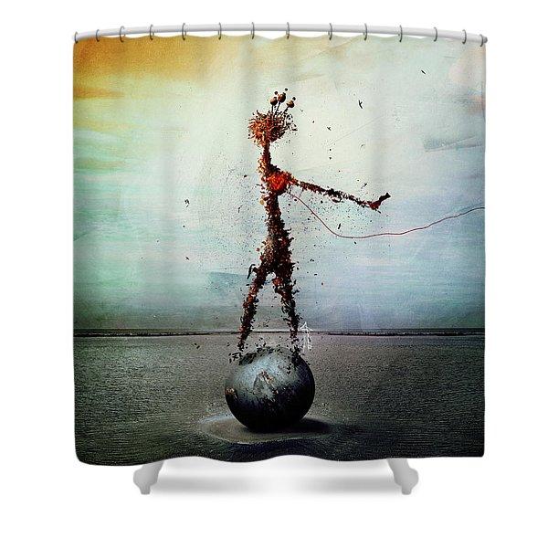 Blood Shower Curtain