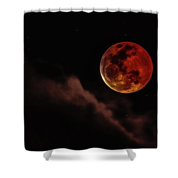 Blood Moon Rising Shower Curtain