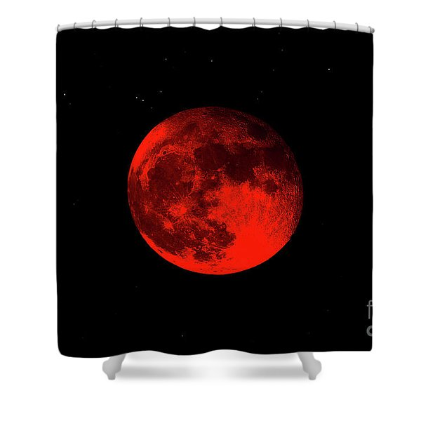 Blood Red Wolf Supermoon Eclipse 873a Shower Curtain