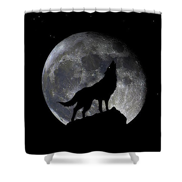 Pre Blood Red Wolf Supermoon Eclipse 873r Shower Curtain