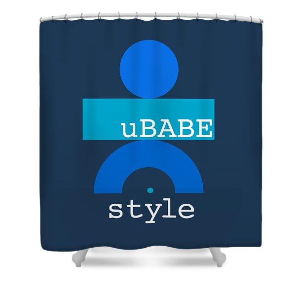 Blue Babe Shower Curtain