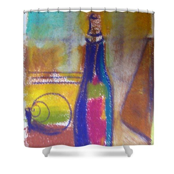 Blue Bottle Shower Curtain