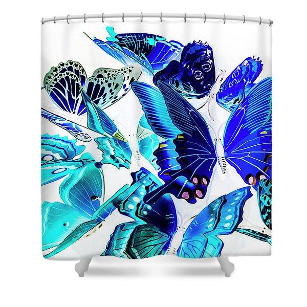 Blue Buggery  Shower Curtain