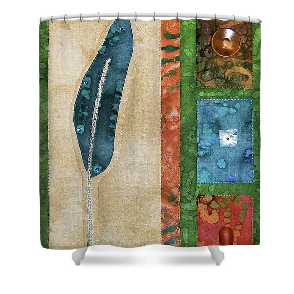 Blue Feather Shower Curtain