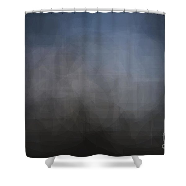Blue Gray Abstract Background With Blurred Geometric Shapes. Shower Curtain