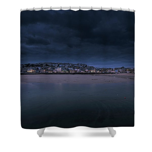 Blue Hour - St Ives Cornwall Shower Curtain