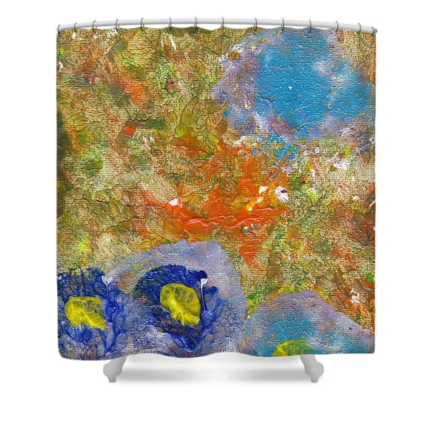 Blue In The Forest Shower Curtain