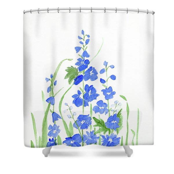 Blue Larkspur  Shower Curtain