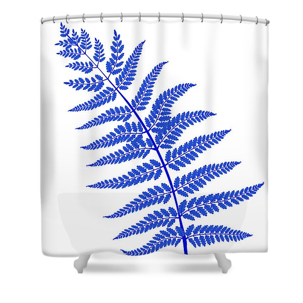 Blue Leaf Plant Shower Curtain
