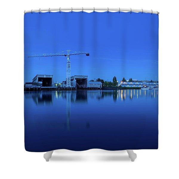 Blue Moonlight Shower Curtain