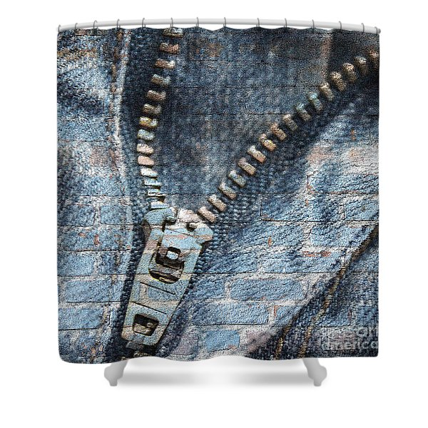 Sexy Blue Jeans Shower Curtain