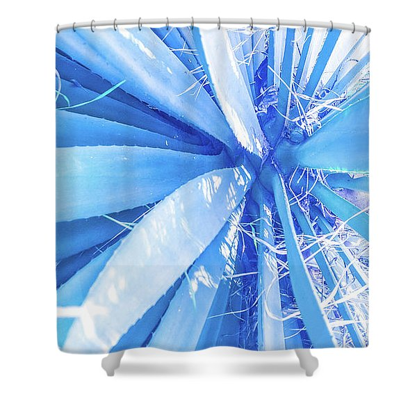 Blue Rays Shower Curtain