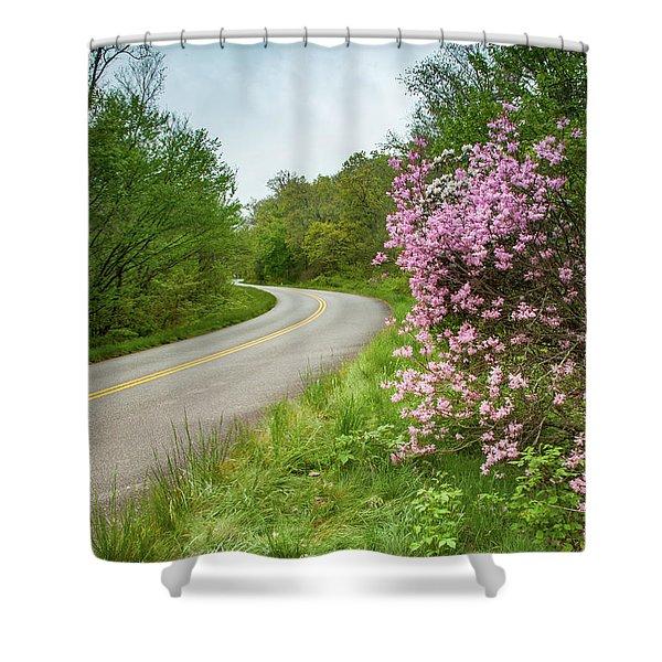 Blue Ridge Parkway In Bloom Shower Curtain