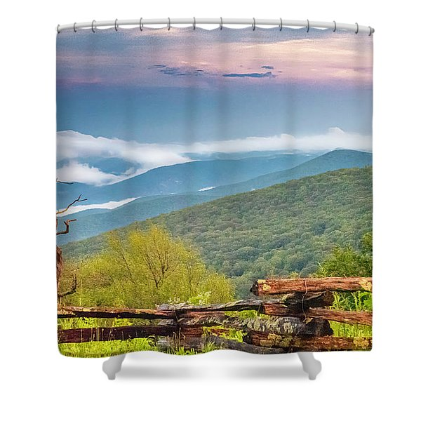 Shower Curtain featuring the photograph Blue Ridge Parkway View by Ken Barrett
