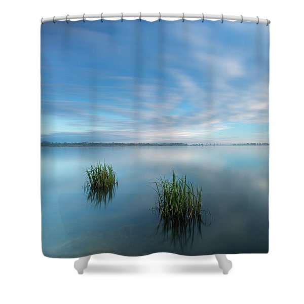Blue Whirlpool Shower Curtain