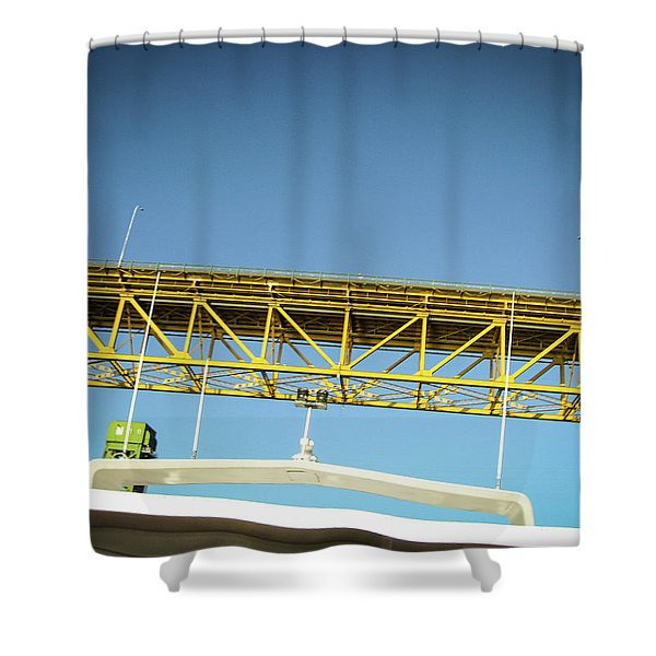 Shower Curtain featuring the photograph Blue, Yellow And Green by Juan Contreras