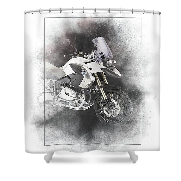 Bmw R1200gs Painting Shower Curtain