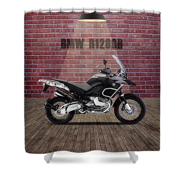 Bmw R1200r Red Wall Shower Curtain