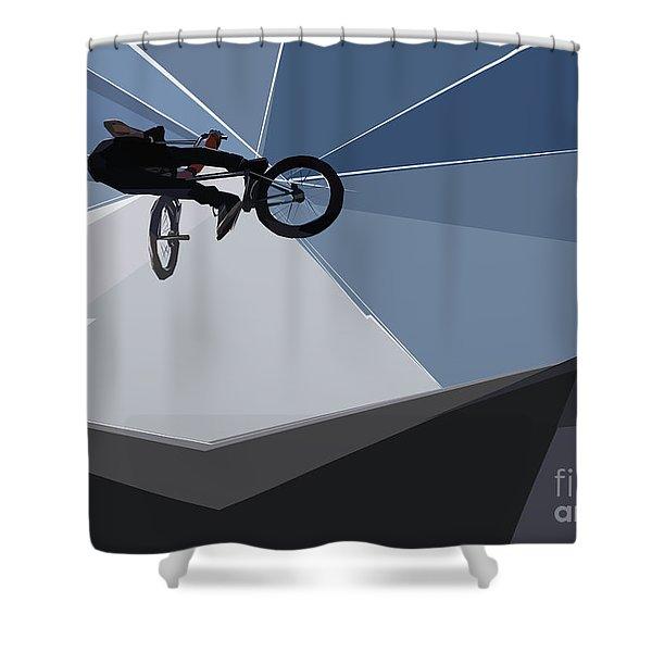 Bmx Biking  Shower Curtain