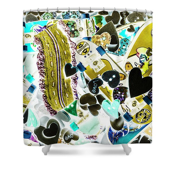 Boarding Background Shower Curtain