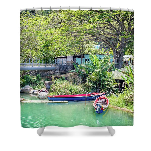 Boat And Rafting Tours Shower Curtain
