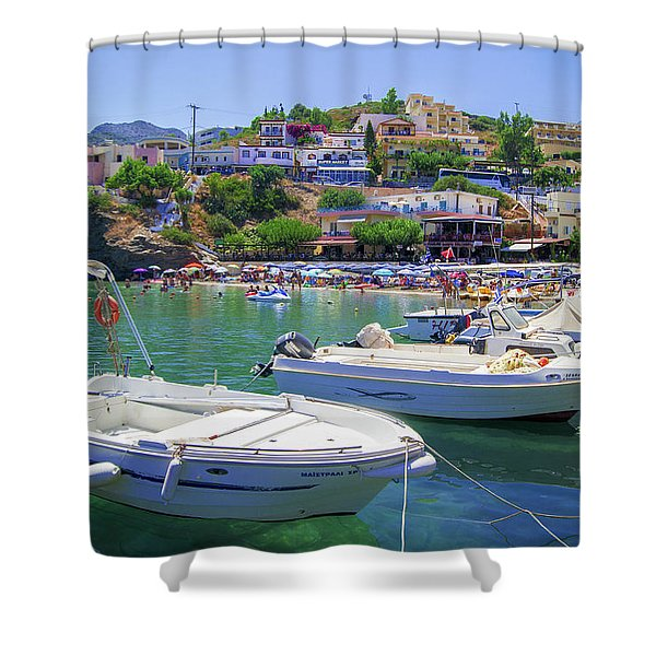 Boats In Bali Shower Curtain