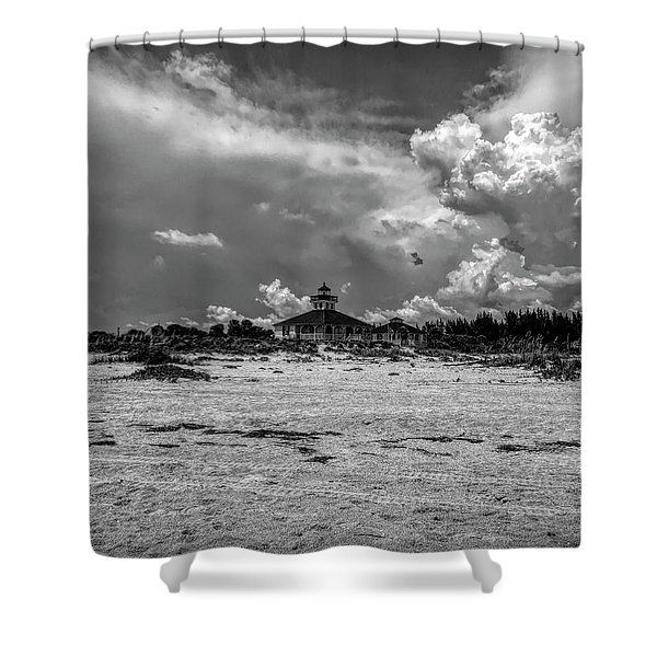 Boca Grande Lighthouse Shower Curtain