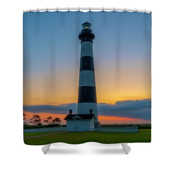 Bodie Island Lighthouse, Hatteras, Outer Bank Shower Curtain