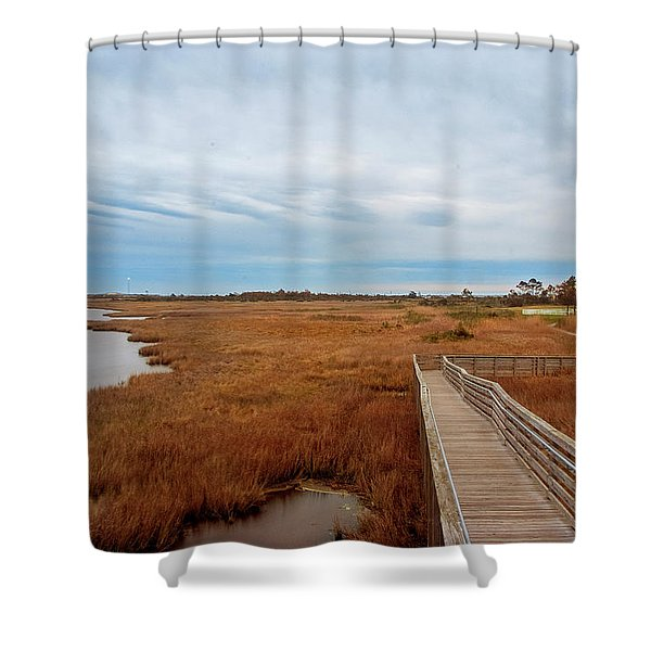 Bodie Island Lighthouse No. 3 Shower Curtain