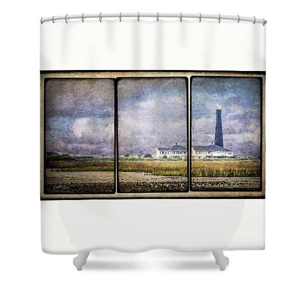 Bolivar Lighthouse Triptych 1 Shower Curtain