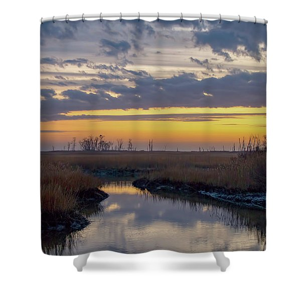 Bombay Hook Dawn's Early Light Shower Curtain