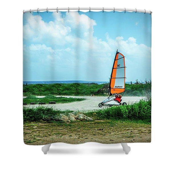Bonaire Land Sailor  Shower Curtain