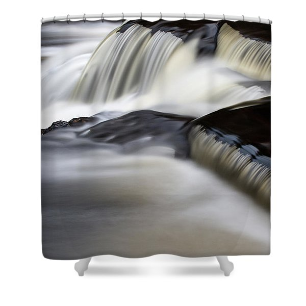 Shower Curtain featuring the photograph Bond Falls 12 by Heather Kenward