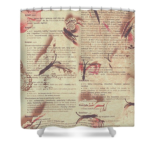 Book Bugs Shower Curtain