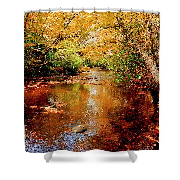 Shower Curtain featuring the photograph Boone Fork Stream by Meta Gatschenberger