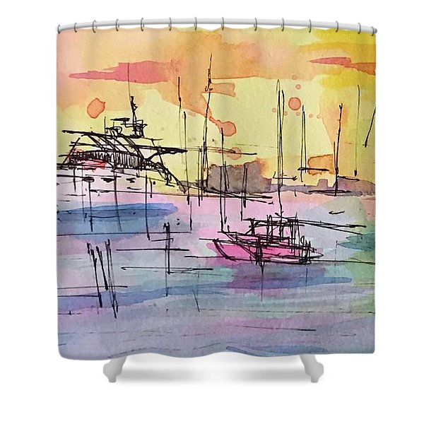 Boothbay 2  Shower Curtain