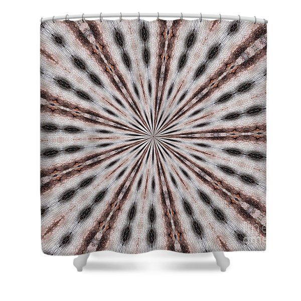Boston Terrier Mandala Shower Curtain