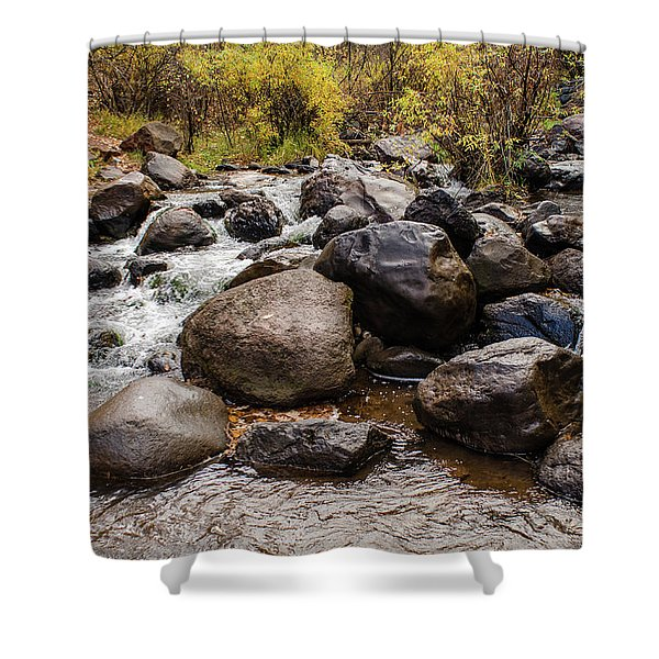 Boulders In Creek Shower Curtain