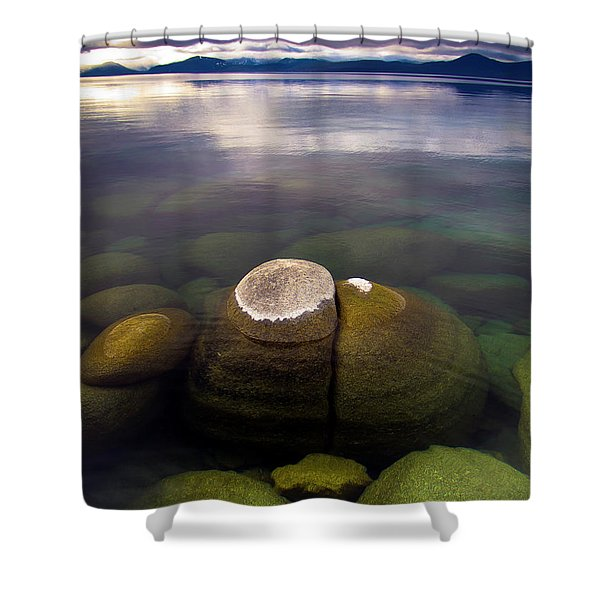 Boulders Underwater At Sand Harbor Shower Curtain