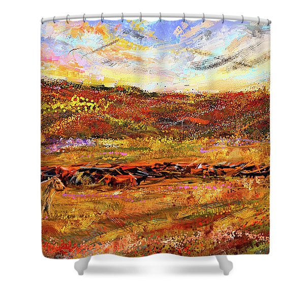 Bountiful Bovine - Everton, Arkansas Shower Curtain