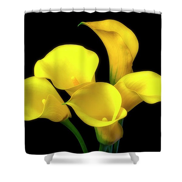 Bouquet Of Yellow Calla Lilies Shower Curtain