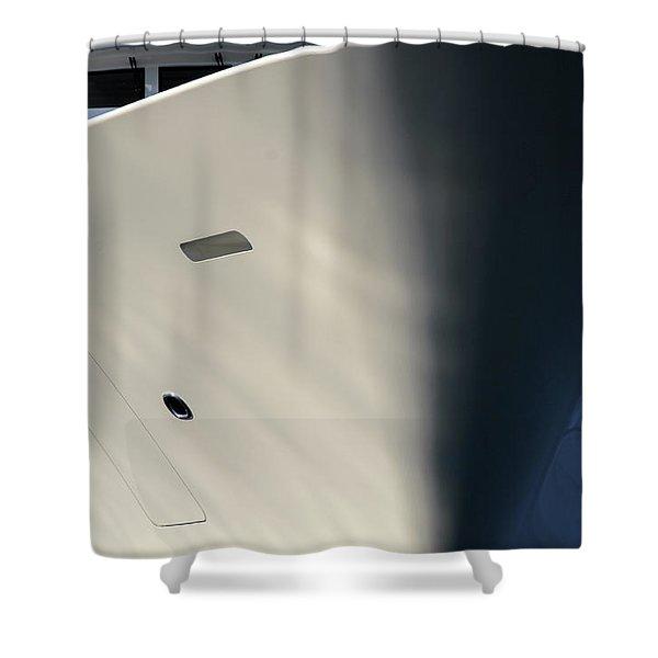 Bow Of Mega Yacht Shower Curtain