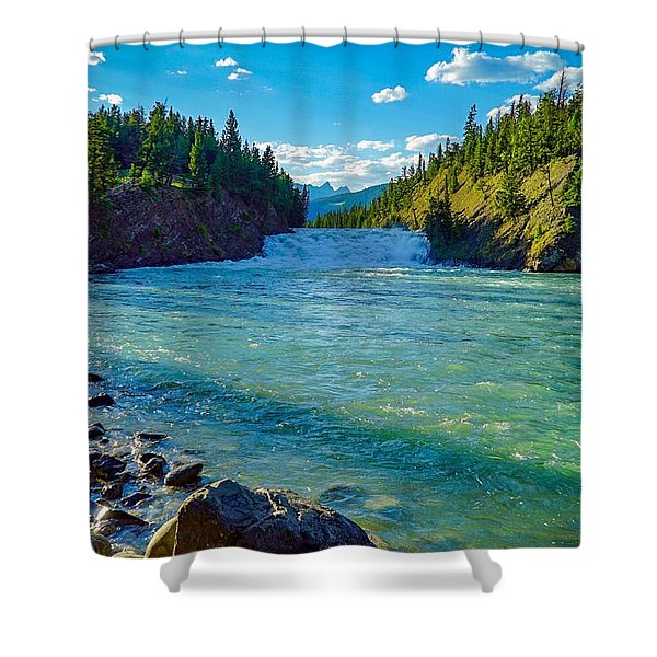 Bow River In Banff Shower Curtain