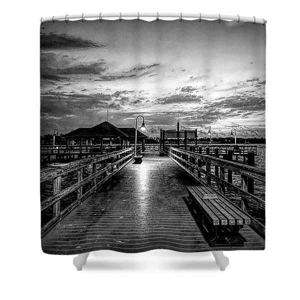 Bradenton Beach City Pier Shower Curtain