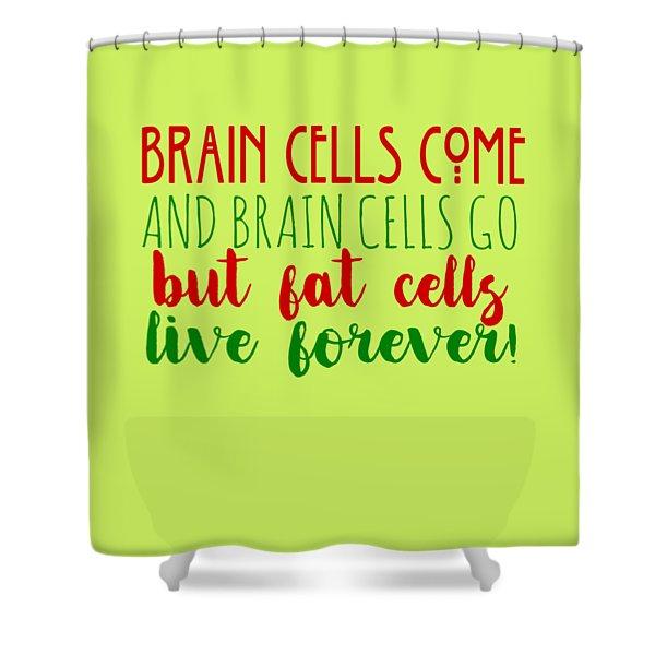 Brain Cells Shower Curtain