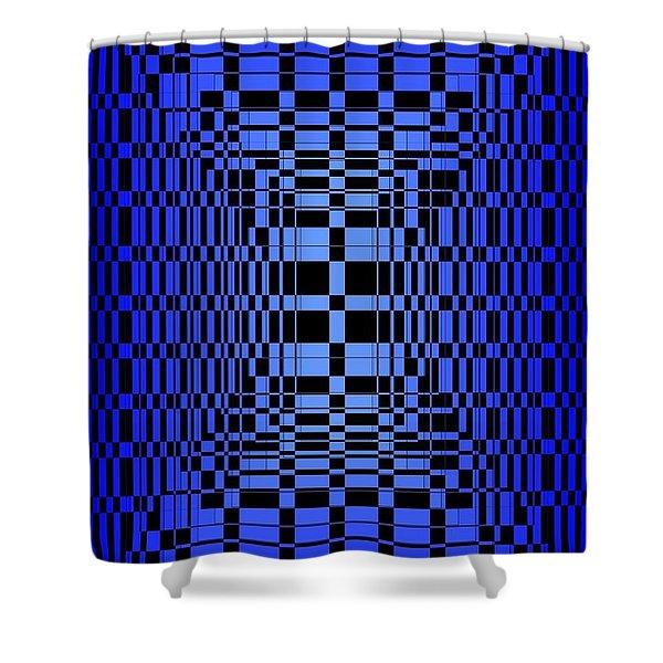 Brave Blue  Shower Curtain