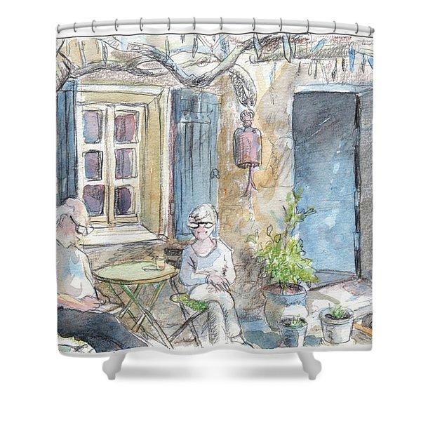 Breakfast Al Fresco Shower Curtain